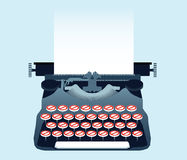 Banned Typewriter Royalty Free Stock Photography
