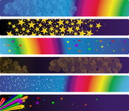 banner światła zestawu sześciu Zdjęcia Stock