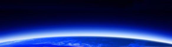 banner 1 globe przestrzeni świat Zdjęcia Royalty Free