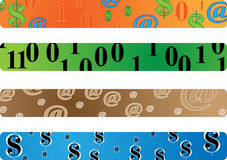 Banner dollars and binary Royalty Free Stock Image