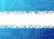 Banner. Circuit pattern background with empty white space for your text Stock Image