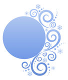 Banner. Round banner with wintry elements. Blank banner for Your text Stock Photo