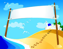 Banner. Blank banner on marine landscape Royalty Free Stock Photos