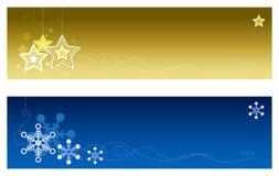 banner 2 bożego narodzenia Zdjęcia Royalty Free