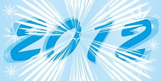 Banner 2012. Blue banner with snowflakes 2012 vector illustration