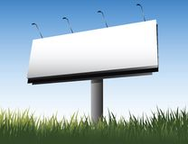 Banner. Empty white screen for text or design and summer fresh green grass Royalty Free Stock Photos