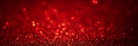 Free Banner 3:1. Abstract Glitter Lights On Red Background. Christmas Greating Card. Christmas Or New Year Celebration Concept. Copy Stock Photo - 163388070