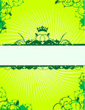 Banner. Green banner 8.5 x 11 Stock Photo