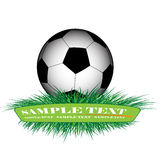 Banner. Soccer ball on the green banner Royalty Free Stock Photos