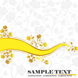Banner. The yellow floral abstract background Royalty Free Stock Photo