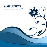 Banner. Fully editable blue vector banner illustration Royalty Free Stock Photo