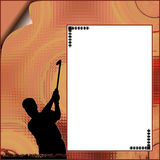Banner. On the abstract background royalty free illustration