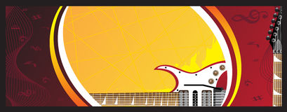 Banner. Guitar on the colorful background Stock Photo