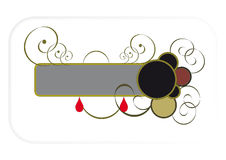 Banner. Banner with scrolls and circles on a white background Royalty Free Stock Photo