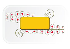 Banner. Yellow banner with scrolls on a white background Stock Images
