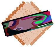 Banner on abstract background with fantasy Royalty Free Stock Images