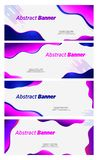 Banner abstract bubble design vector violet and blue color header vector illustration