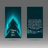2017 banner with abstract Christmas tree Stock Photos