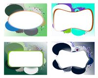 Banner on abstract colorful background with fantasy Stock Photography