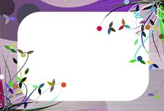 Banner on abstract colorful background with flower Stock Photo