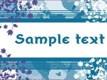 Banner on abstract colorful background with flowers Royalty Free Stock Photos