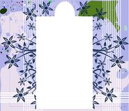 Banner on abstract colorful background with flower. Image representing a banner on an abstract background made with colorful fantasy and flowers. An idea for Royalty Free Stock Images