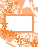 Banner on abstract colorful background with flower Royalty Free Stock Image