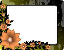 Banner on abstract colorful background with flower Stock Photography