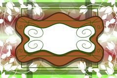 Banner on abstract colorful background with flowers Royalty Free Stock Images