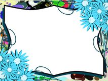 Banner on abstract colorful background with flowers Royalty Free Stock Image