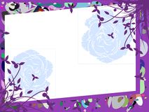 Banner on abstract colorful background with flowers Stock Photos
