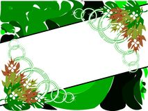 Banner on abstract colorful background with flowers. Image representing a banner on an abstract background made with colorful fantasy and flowers. An idea for Royalty Free Stock Photos