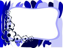 Banner on abstract colorful background with flowers. Image representing a banner on an abstract background made with colorful fantasy and flowers. An idea for Royalty Free Stock Image