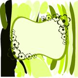 Banner on abstract colorful background with flowers. Image representing a banner on an abstract background made with colorful fantasy and flowers. An idea for Stock Images