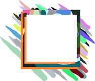 Banner on abstract colorful background isolated Royalty Free Stock Photography