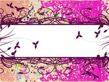 Banner on abstract colorful background with leaves Stock Image