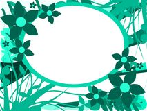 Banner on abstract floral background isolated Stock Images
