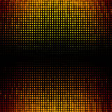 Banner abstract gold background Halftone Stock Image