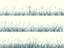 Banner of abstract meadow grass. Royalty Free Stock Images