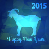 Banner. Abstract New Year background with symbol of 2015 year goat Stock Image