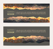 Banner with abstract polygonal background Royalty Free Stock Photos