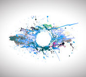 Banner of abstract spray paint. Stock Image
