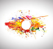Banner of abstract spray paint. Stock Photography