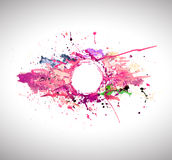 Banner of abstract spray paint. Royalty Free Stock Images