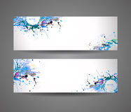 Banner of abstract spray paint. Royalty Free Stock Photo