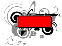 Banner with abstraction Royalty Free Stock Photos