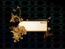 banner abstrakcyjne złota wektora Obraz Royalty Free