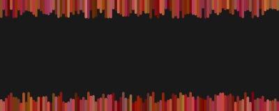Banner achtergrondmalplaatjeontwerp van verticale lijnen in donkere tonen op zwarte achtergrond Royalty-vrije Stock Foto's