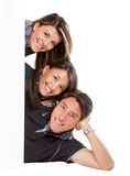 Banner ad - happy friends Stock Photo
