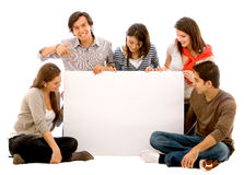 Banner ad - happy friends Stock Images
